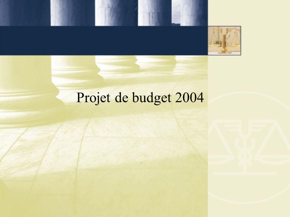 Projet de budget 2004