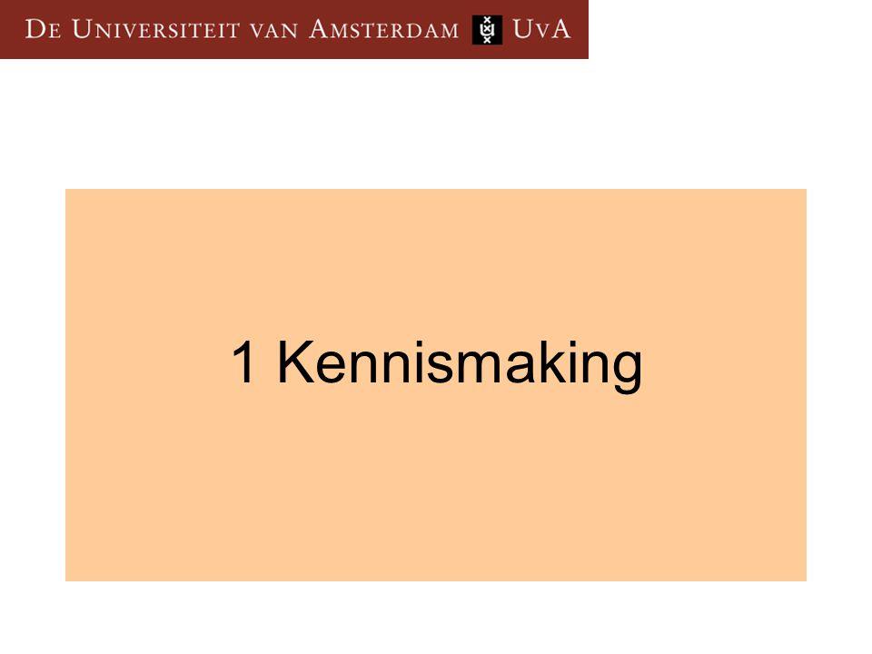 1 Kennismaking