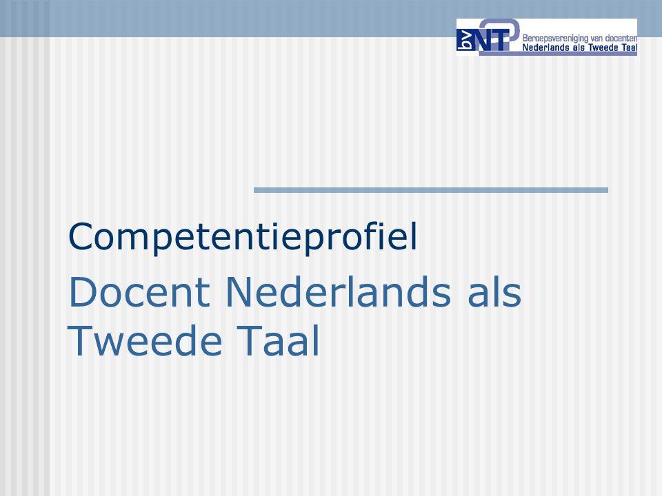 Competentieprofiel Docent Nederlands als Tweede Taal