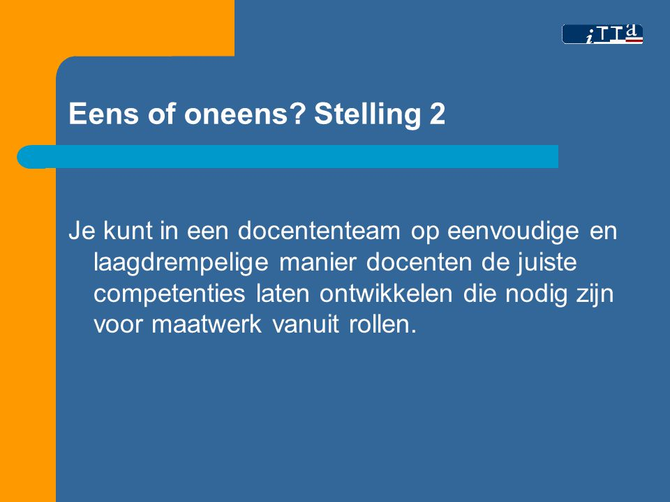Ons antwoord stelling 3.