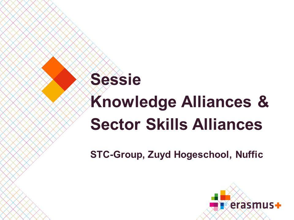 Sessie Knowledge Alliances & Sector Skills Alliances STC-Group, Zuyd Hogeschool, Nuffic