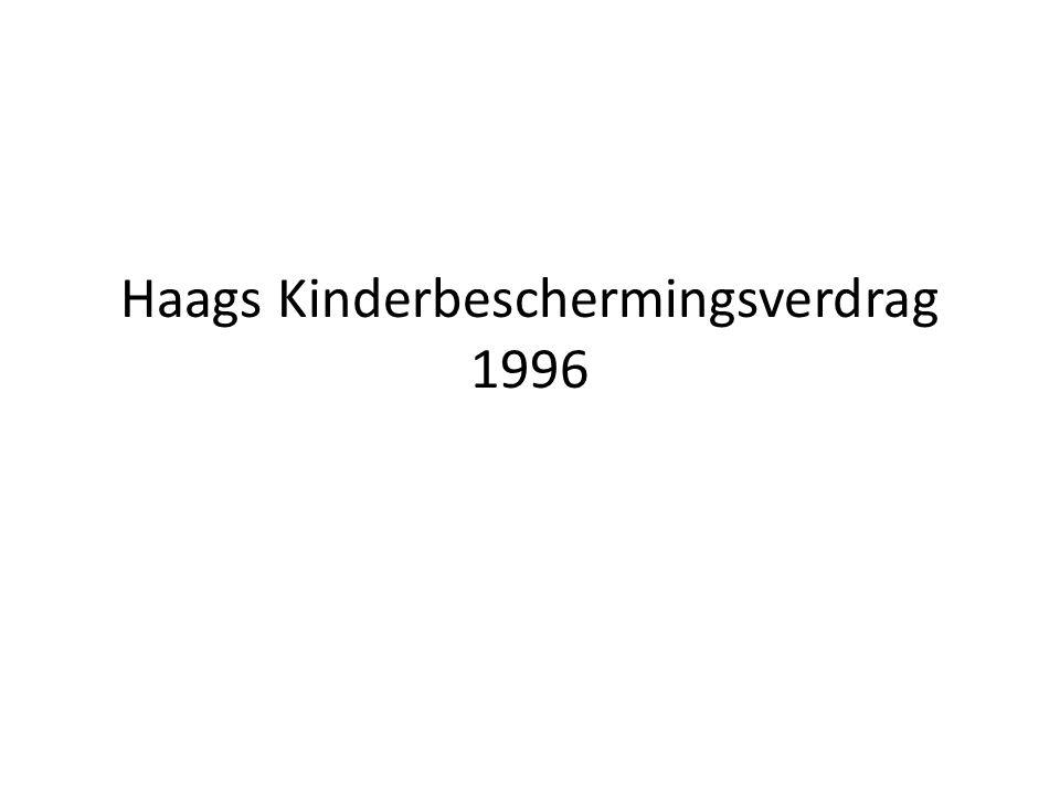 Achtergrond en opzet Achtergrond: revisie HKBV 1961 Betekenis HKBV 1961 Tegen HKBV 1961 gerezen bezwaren Opzet HKBV 1996 traité quadruple: internationale bevoegdheid (art.