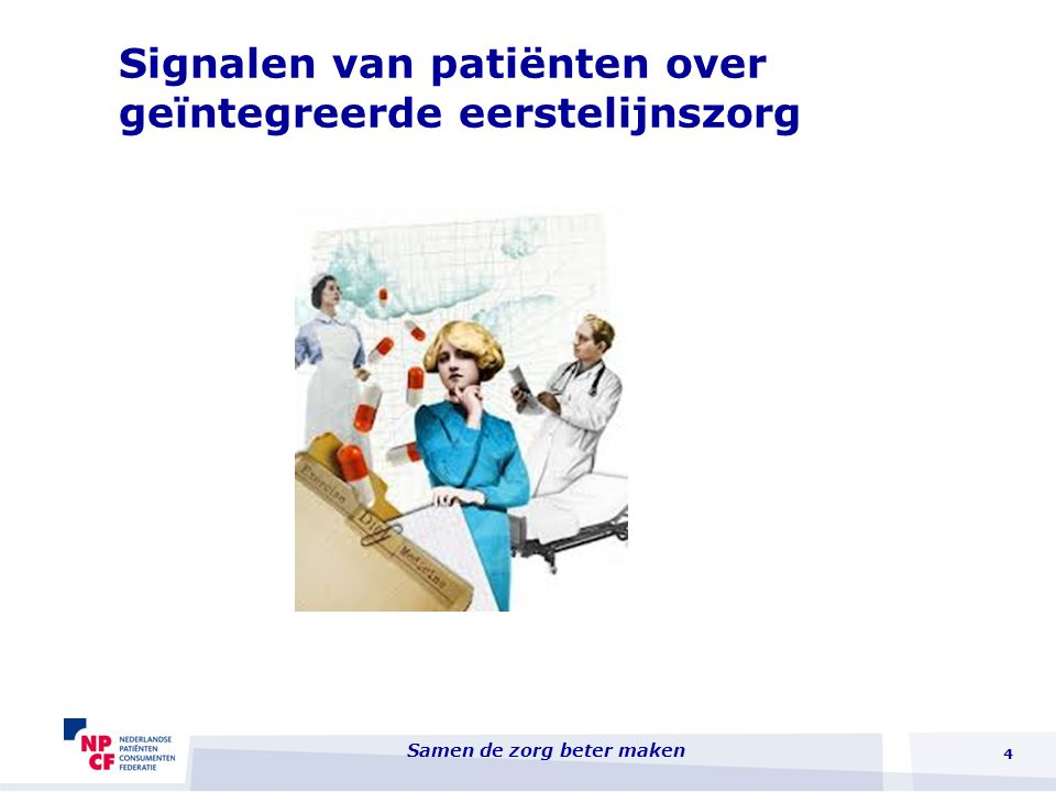 Signalen van patiënten over geïntegreerde eerstelijnszorg 4 Samen de zorg beter maken