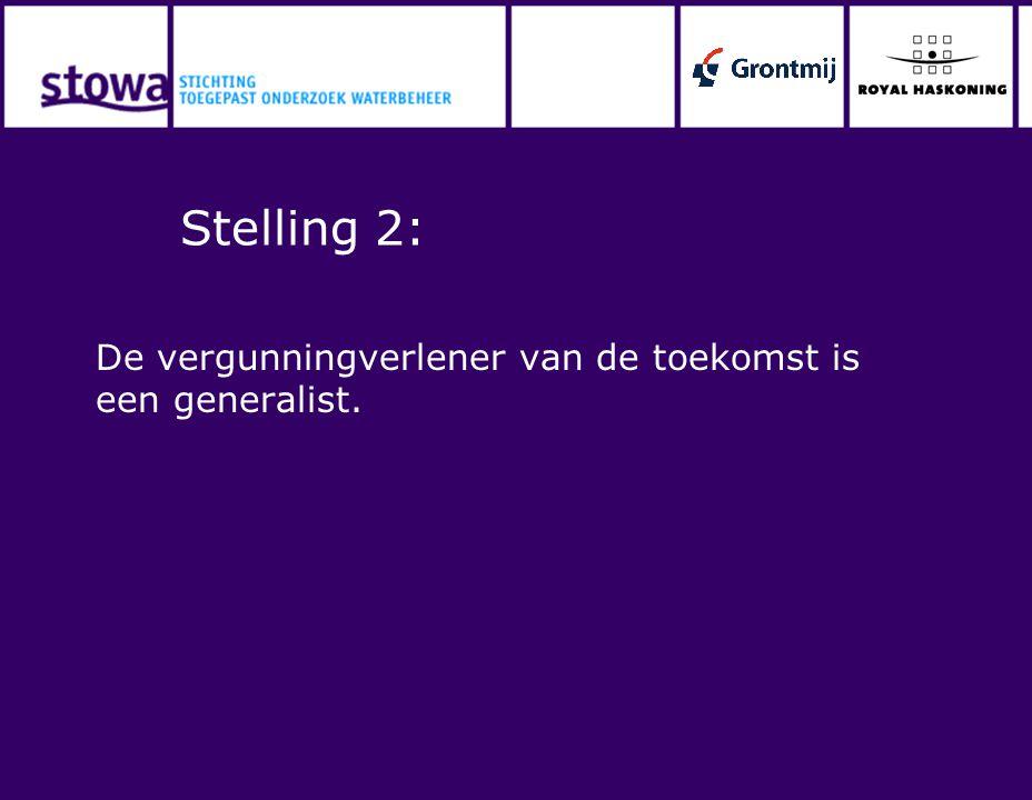 Stelling 3: Vergunningverleners moeten vergunningverlening plaatsen binnen de doelen van het waterschap