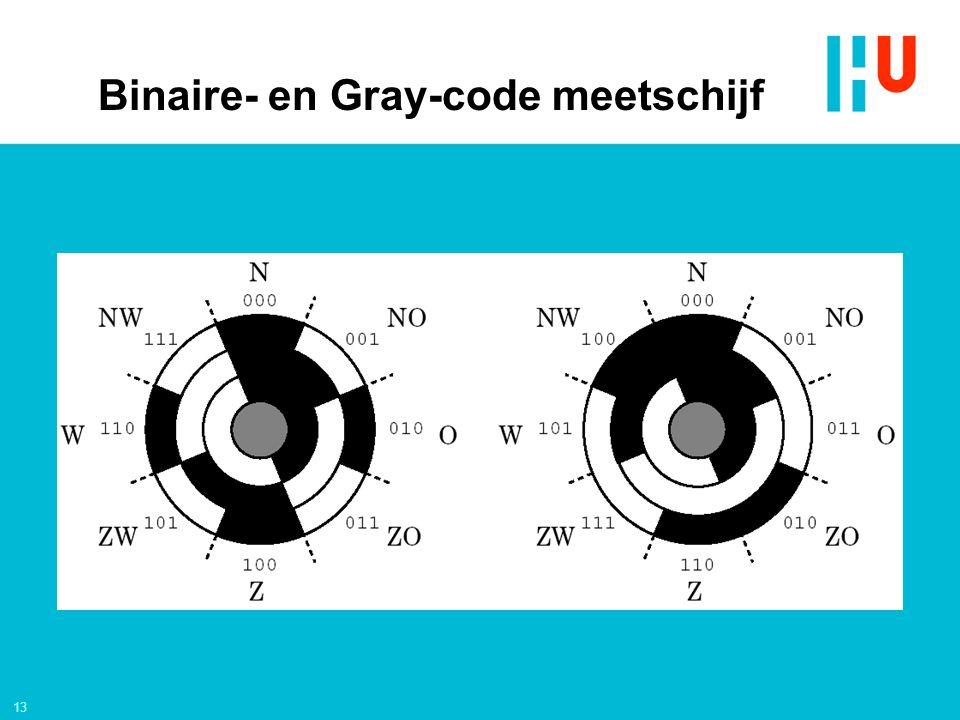 13 Binaire- en Gray-code meetschijf