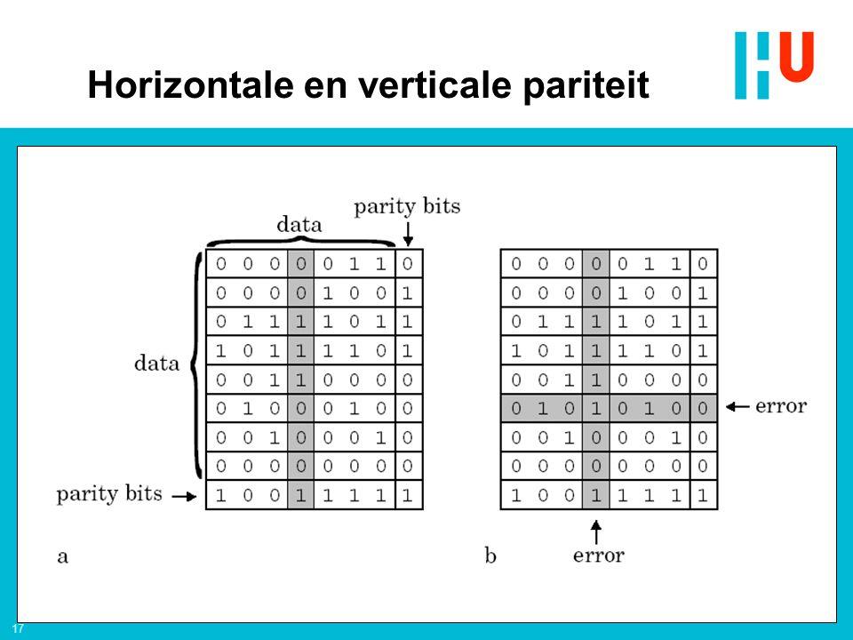 17 Horizontale en verticale pariteit