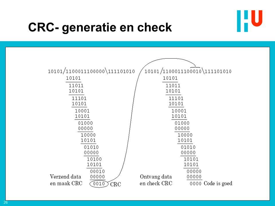 26 CRC- generatie en check
