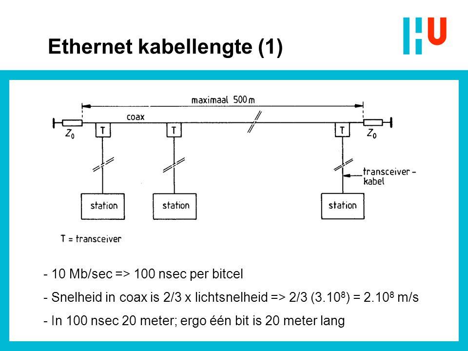 - Eén segment max.500 m en max. 5 segmenten - Max.