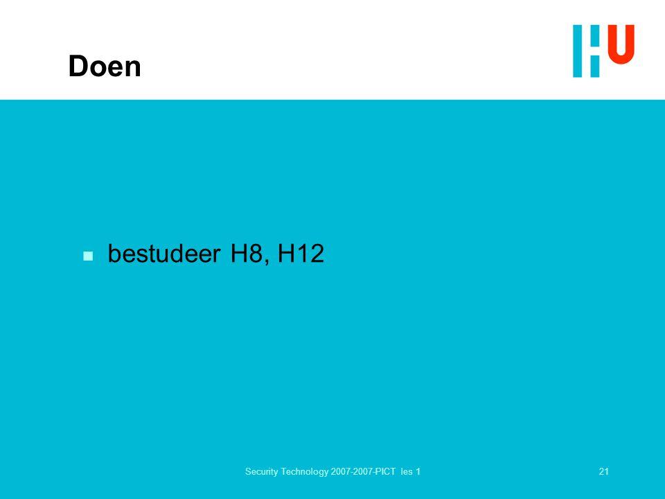 21Security Technology 2007-2007-PICT les 1 Doen n bestudeer H8, H12