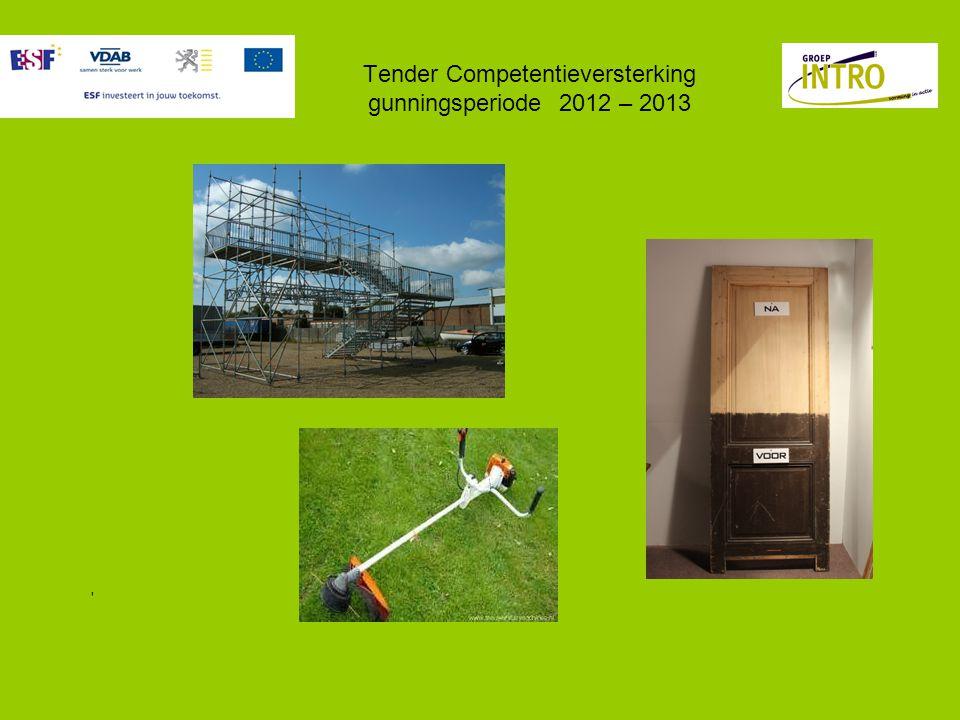 Tender Competentieversterking gunningsperiode 2012 – 2013