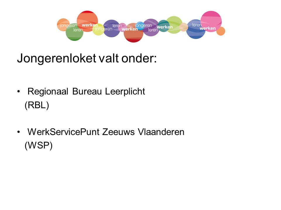 Jongerenloket valt onder: Regionaal Bureau Leerplicht (RBL) WerkServicePunt Zeeuws Vlaanderen (WSP)