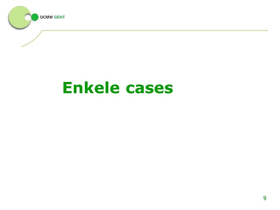 9 Enkele cases