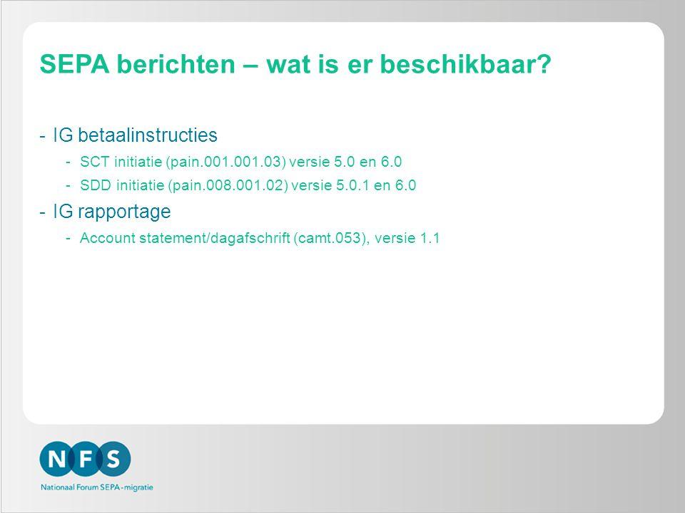 SEPA berichten – wat is er beschikbaar.
