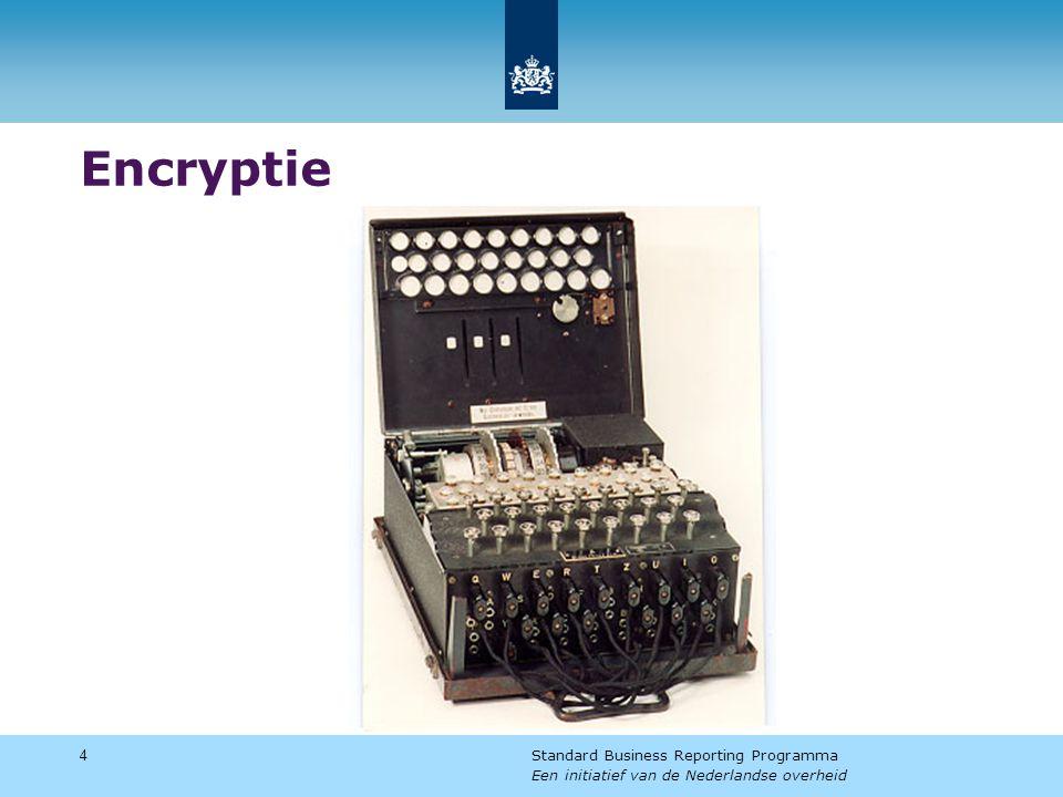 Encryptie 4 Standard Business Reporting Programma Een initiatief van de Nederlandse overheid