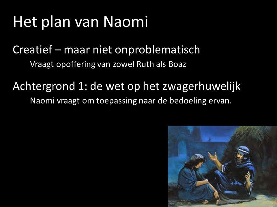 Het plan van Naomi Achtergrond 2: de bepalingen rond de losser Kan land terugkopen voor familie die vervallen is tot armoede.