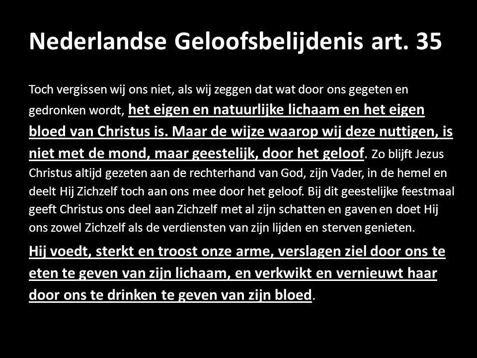 Nederlandse Geloofsbelijdenis art.