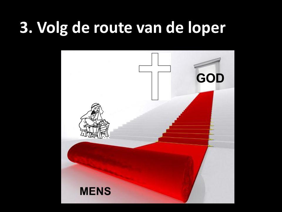 3. Volg de route van de loper GOD MENS