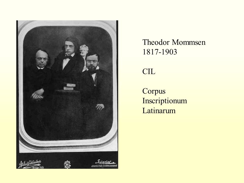 Theodor Mommsen 1817-1903 CIL Corpus Inscriptionum Latinarum