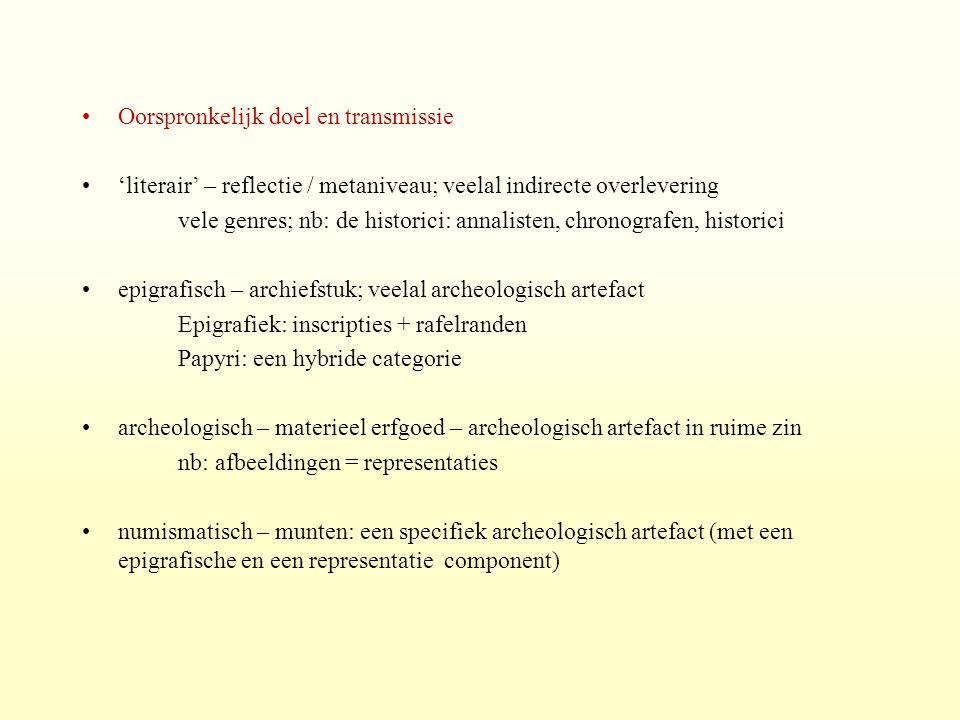 Papyrologie, epigrafiek, numismatiek, archeologie: hulpwetenschappen.
