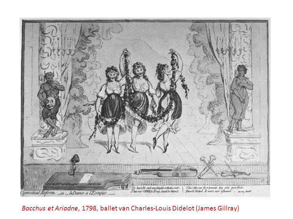 Bacchus et Ariadne, 1798, ballet van Charles-Louis Didelot (James Gillray)