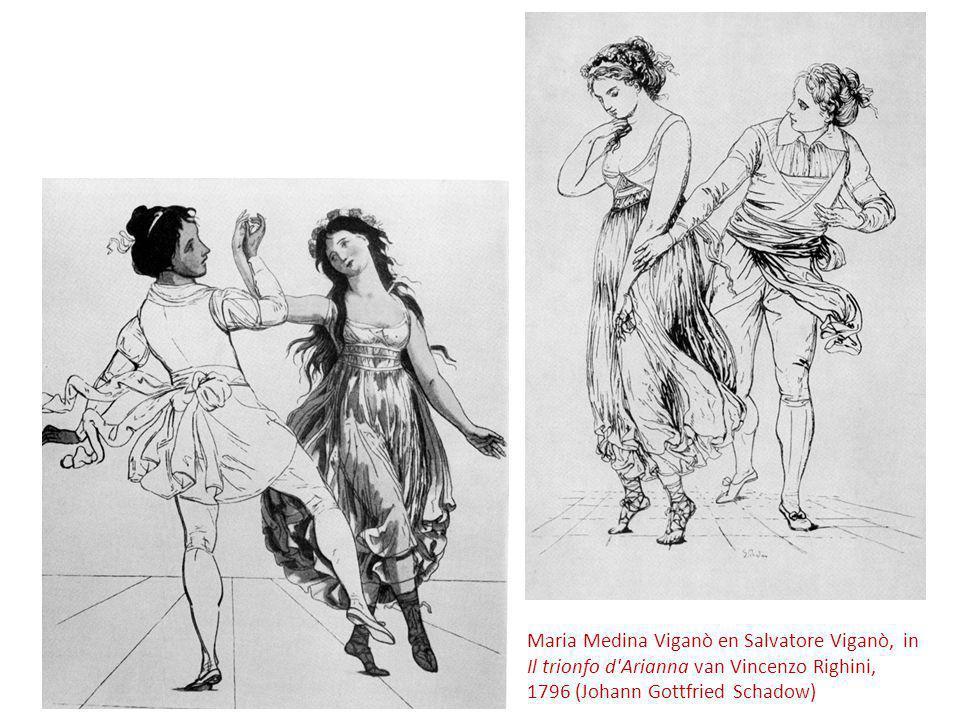 Maria Medina Viganò en Salvatore Viganò, in Il trionfo d Arianna van Vincenzo Righini, 1796 (Johann Gottfried Schadow)