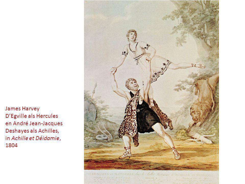 James Harvey D'Egville als Hercules en André Jean-Jacques Deshayes als Achilles, in Achille et Déidamie, 1804