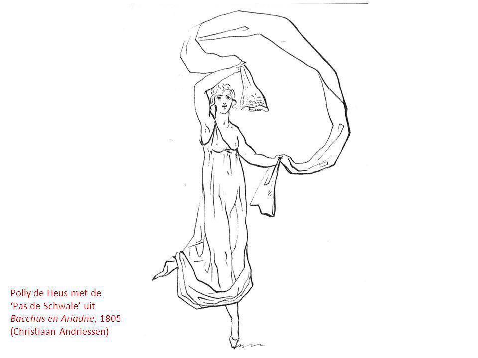 Polly de Heus met de 'Pas de Schwale' uit Bacchus en Ariadne, 1805 (Christiaan Andriessen)