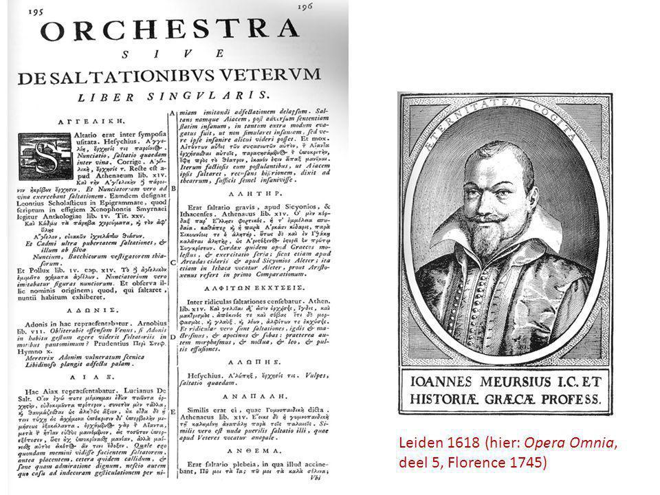 Leiden 1618 (hier: Opera Omnia, deel 5, Florence 1745)