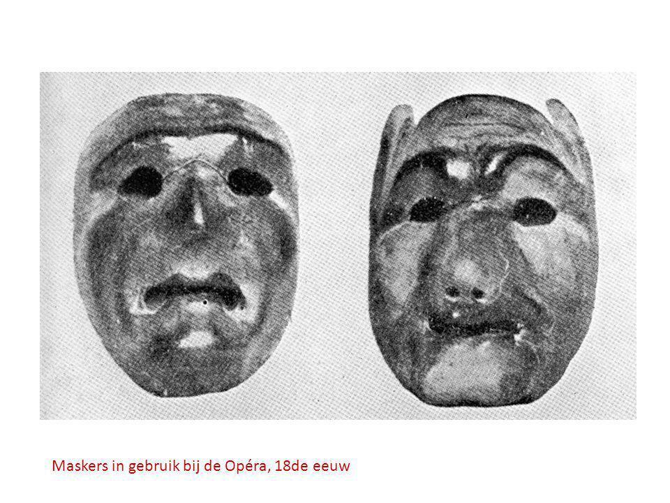 Maskers in gebruik bij de Opéra, 18de eeuw
