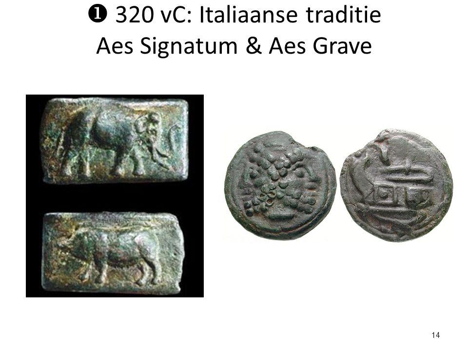  320 vC: Italiaanse traditie Aes Signatum & Aes Grave 14
