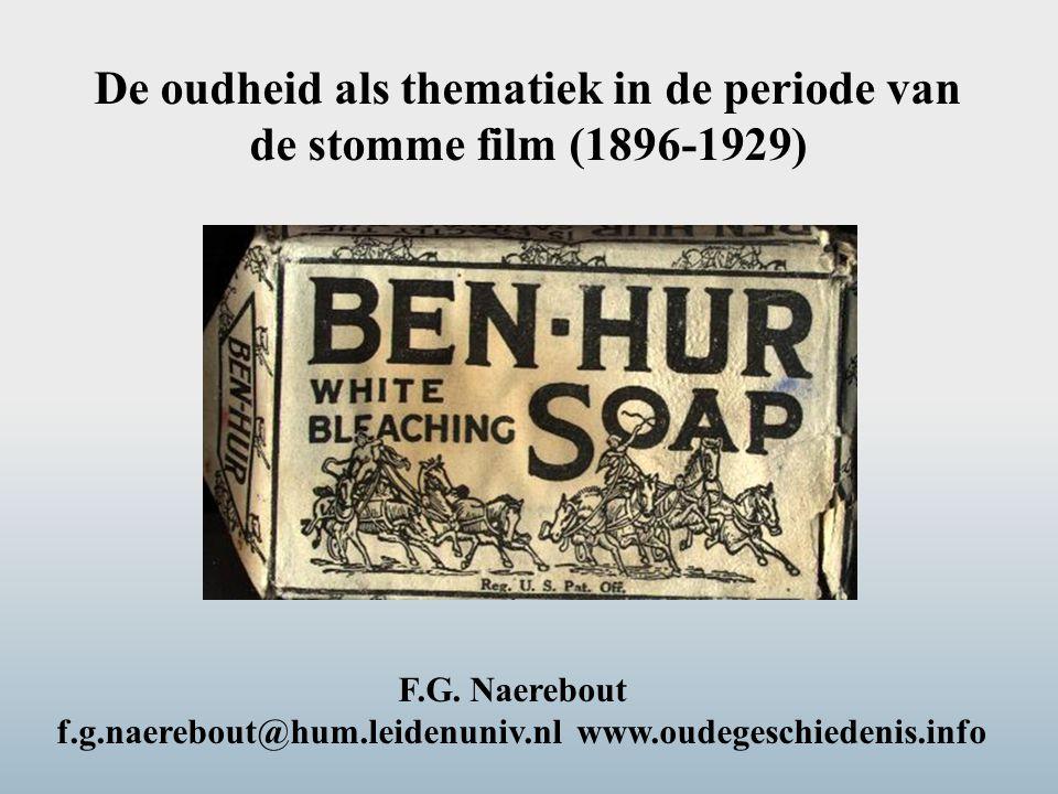 F.G. Naerebout f.g.naerebout@hum.leidenuniv.nl www.oudegeschiedenis.info De oudheid als thematiek in de periode van de stomme film (1896-1929)