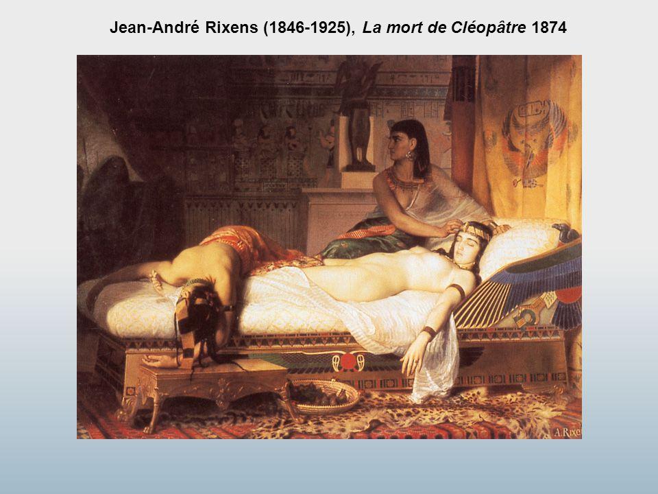 Jean-André Rixens (1846-1925), La mort de Cléopâtre 1874