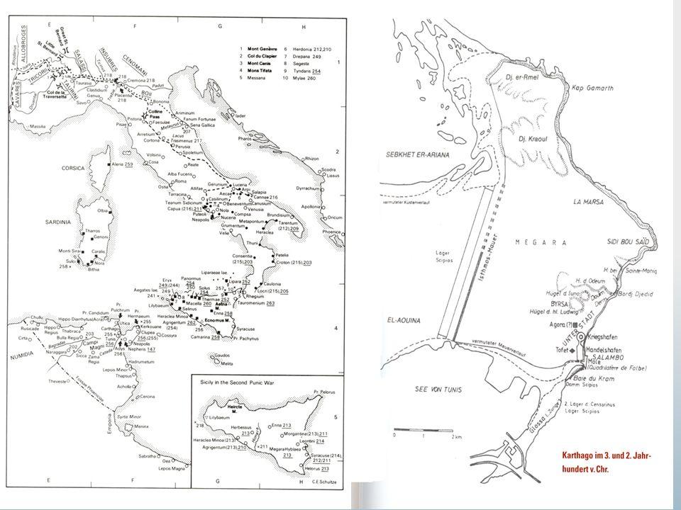 HET HISTORISCHE KADER 264-241 Eerste Punische Oorlog: strijd op en om Sicilië, en zeeoorlog.