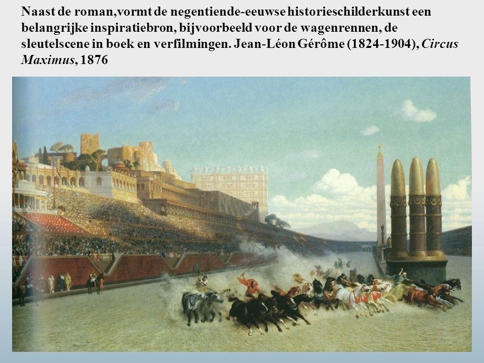 Naast de roman,vormt de negentiende-eeuwse historieschilderkunst een belangrijke inspiratiebron, bijvoorbeeld voor de wagenrennen, de sleutelscene in