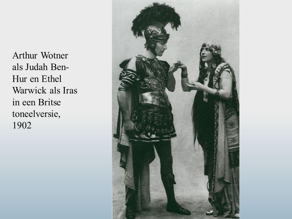 Arthur Wotner als Judah Ben- Hur en Ethel Warwick als Iras in een Britse toneelversie, 1902