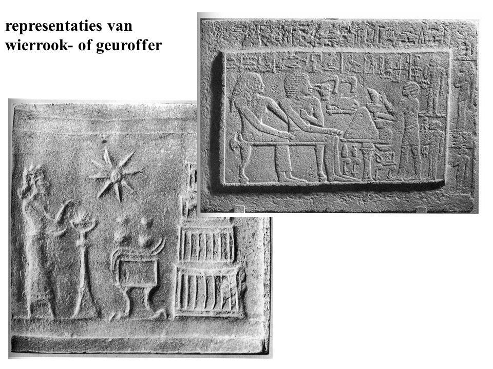 representaties van wierrook- of geuroffer