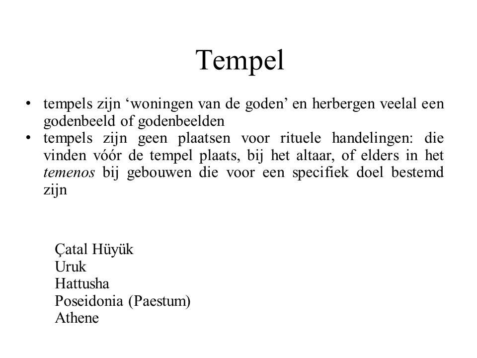 Tempel tempels zijn 'woningen van de goden' en herbergen veelal een godenbeeld of godenbeelden tempels zijn geen plaatsen voor rituele handelingen: di