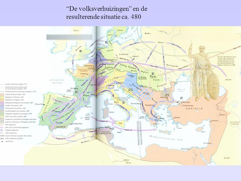 De volksverhuizingen en de resulterende situatie ca. 480