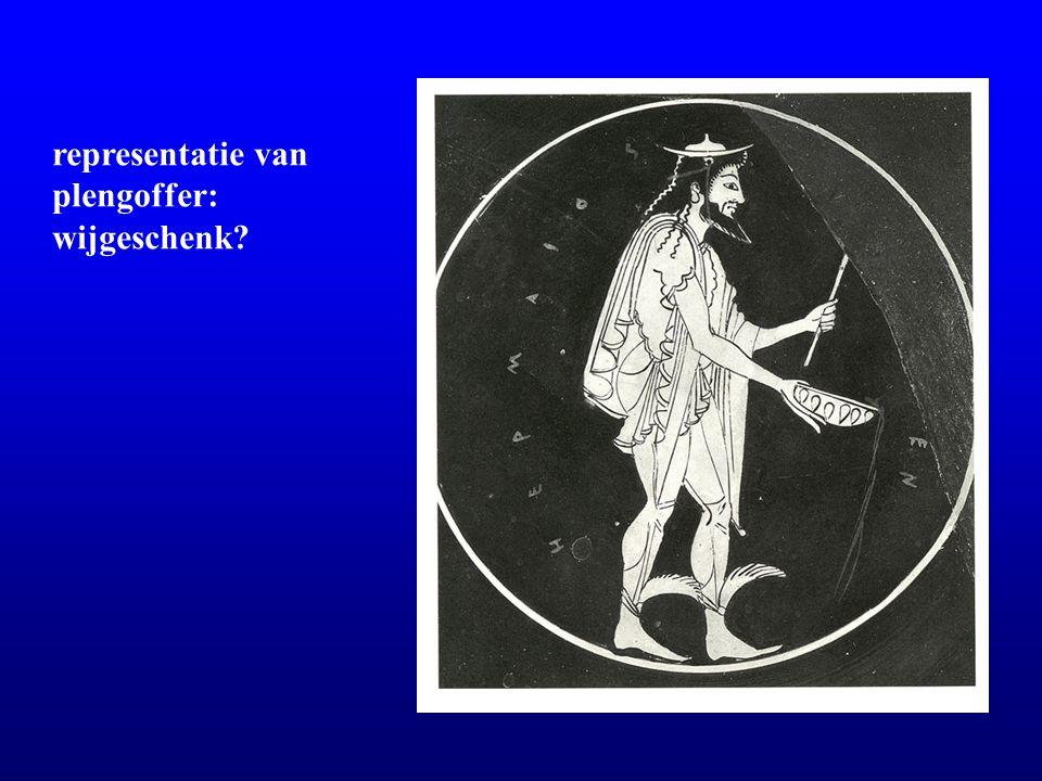 representatie van plengoffer: wijgeschenk?