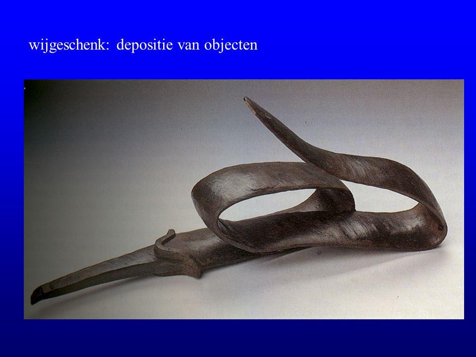 wijgeschenk: depositie van objecten
