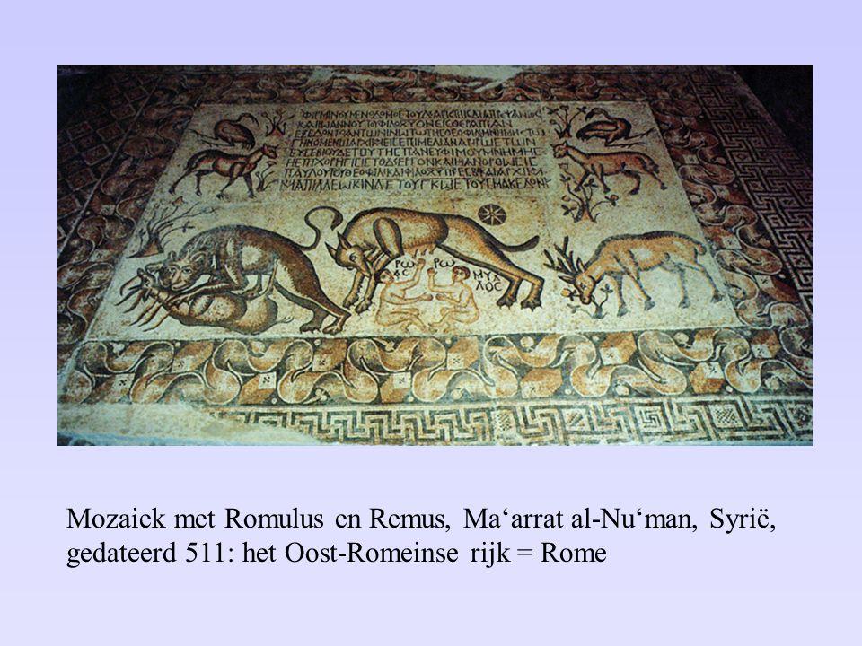 De successor kingdoms ca. 527 en het Oost-Romeinse Rijk