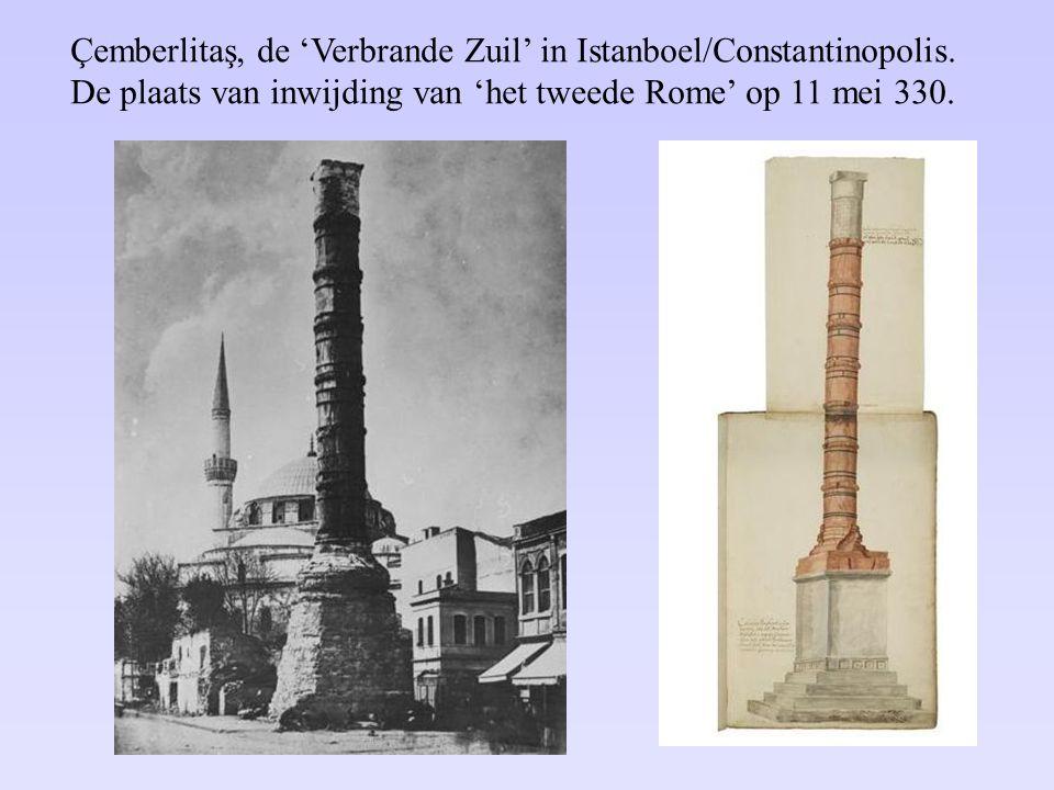 Çemberlitaş, de 'Verbrande Zuil' in Istanboel/Constantinopolis. De plaats van inwijding van 'het tweede Rome' op 11 mei 330.