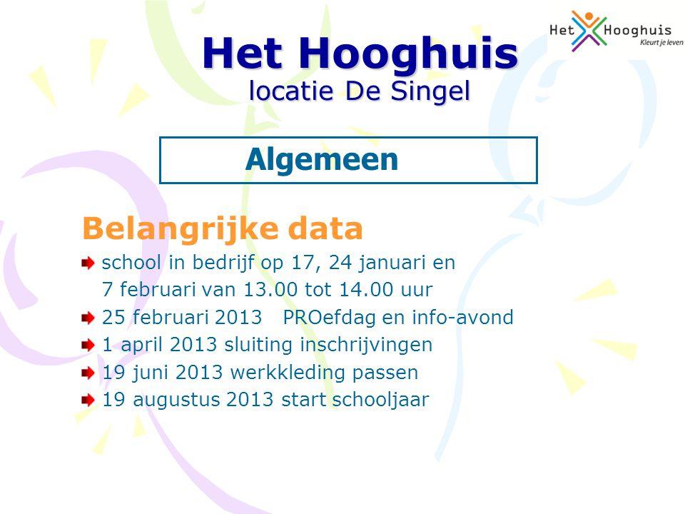 Belangrijke data school in bedrijf op 17, 24 januari en 7 februari van 13.00 tot 14.00 uur 25 februari 2013 PROefdag en info-avond 1 april 2013 sluiti