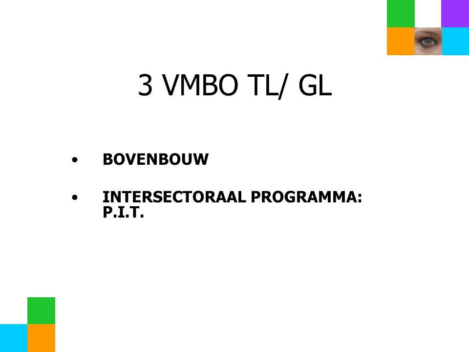 3 VMBO TL/ GL BOVENBOUW INTERSECTORAAL PROGRAMMA: P.I.T.