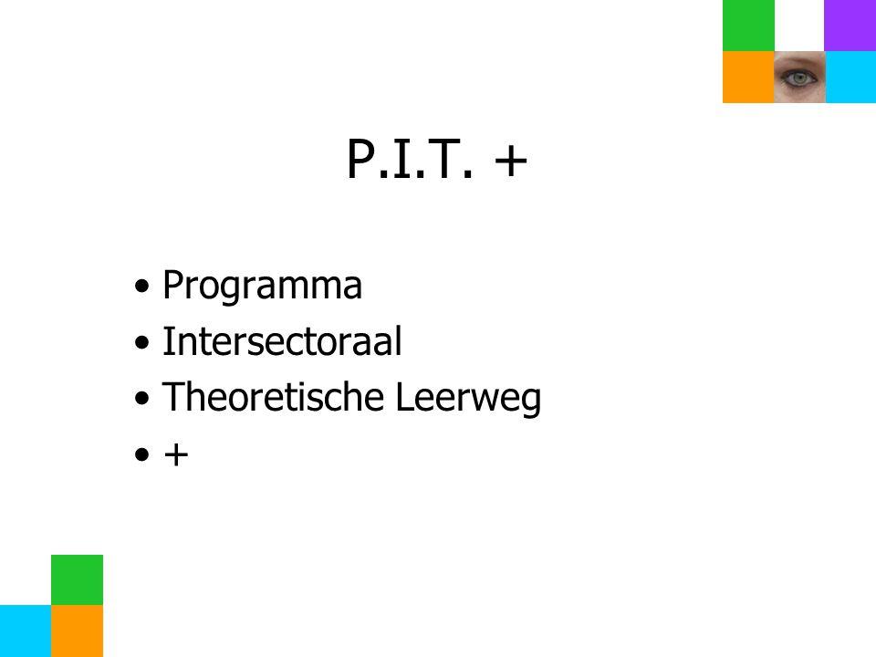 P.I.T. + Programma Intersectoraal Theoretische Leerweg +