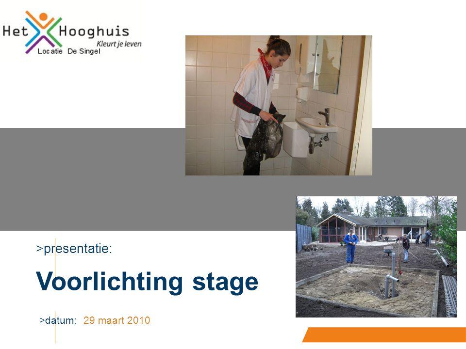 >presentatie: >datum: Voorlichting stage 29 maart 2010
