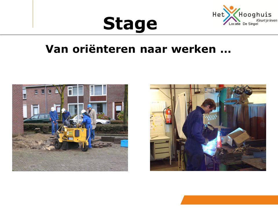 Stage Maatschappelijke stage Arbeidstraining Buitenschools leren Praktijkvakken Praktijk & loopbaan Uitstroom Stages in bedrijfsleven
