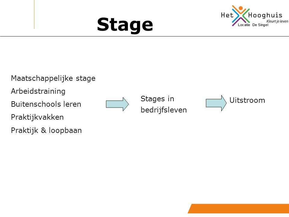 Stage Stage in het bedrijfsleven: Voor de groepen 3 – 4 - 5 De leerling moet eraan toe zijn: – positief advies van de leerkrachten – verantwoordelijkheid – sociaal vaardig – zelfstandig – leeftijd