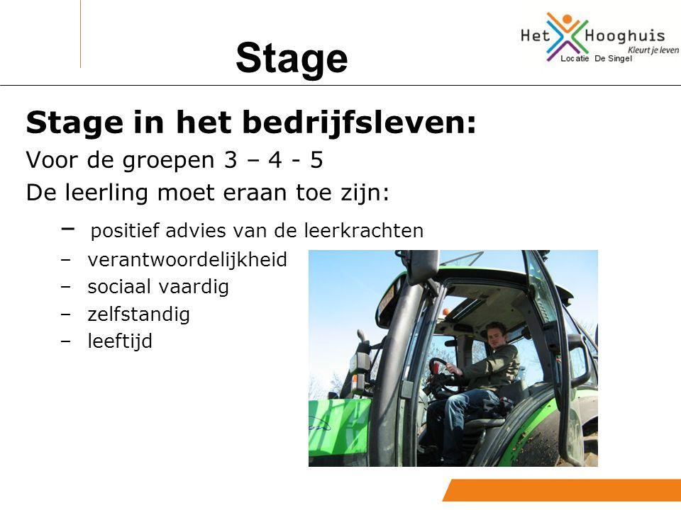 Stage Wat is mogelijk.