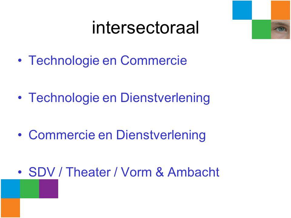 intersectoraal Technologie en Commercie Technologie en Dienstverlening Commercie en Dienstverlening SDV / Theater / Vorm & Ambacht